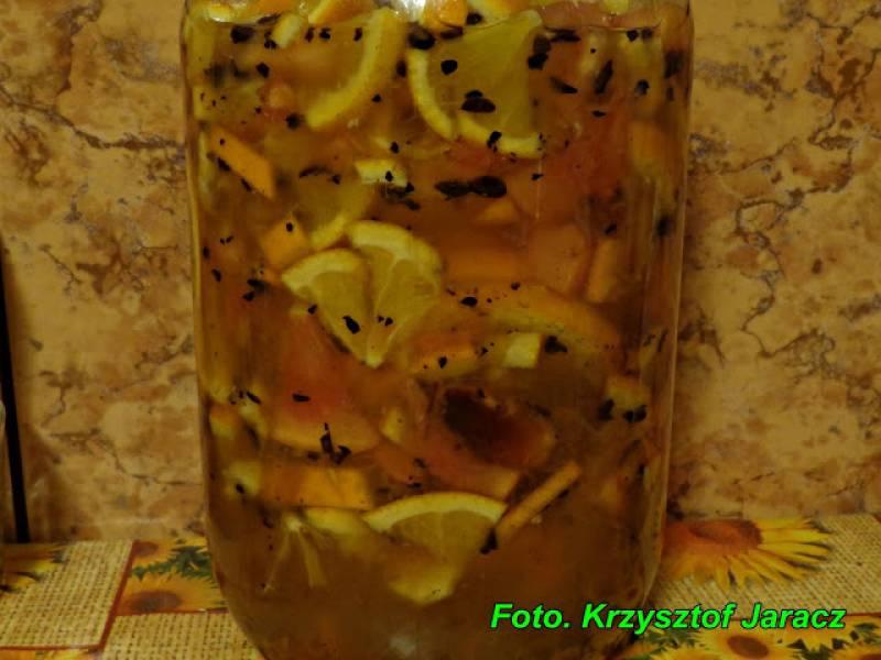Likier świąteczny ( pomarańczowo-kawowo-miodowy ).