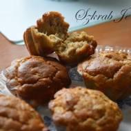 Arachidowe babeczki z jabłkiem - bez cukru i mąki