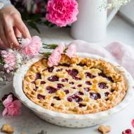 Cherry pie   Tarta z twarożkiem i wiśniami