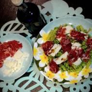 Makaronowa sałatka z pesto z rukoli