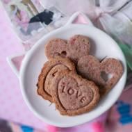 Walentynkowe ciasteczka malinowe (bez cukru)