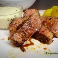 Stek wołowy z sosem z zielonym pieprzem