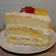 Tort śmietanowy z frużeliną ananasową