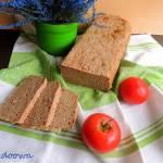 Chleb żytnio - gryczany na zakwasie żytnim.