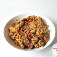 Mięso mielone z kaszą gryczaną i warzywami po włosku