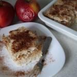 Cynamonowy ryż zapiekany z jabłkami