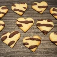 Łaciate serduszka – kruche maślane ciasteczka