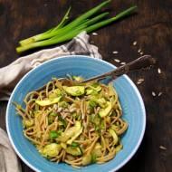 Spaghetti pełnoziarniste z cukinią (wychodzenie z diety dr Dąbrowskiej)