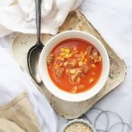 Pomidorowa z kaszą i kukurydzą