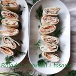Roladki z tortilli i łososia