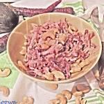 Surówka z czarnej rzepy i fioletowej marchwi