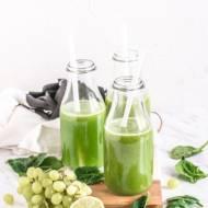 Energiczna zieleń – sok ze szpinaku, selera i winogron