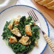 Kurczak ze szpinakiem i gorgonzolą (Pollo con spinaci e gorgonzola)