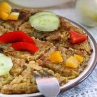 Omlet warzywny z cykorią, pietruszką i kalafiorem