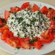 Śniadanie wiejskie serkowo-pomidorowe