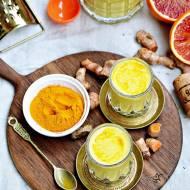 Koktajl bananowy z pomarańczą i kurkumą