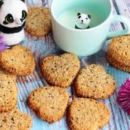 Ciasteczka zbożowe z czarnuszką (bez cukru, laktozy, wegańskie)
