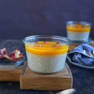 Kokosowy wegański pudding z tapioką i mango