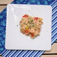 Paella z warzywami i krewetkami