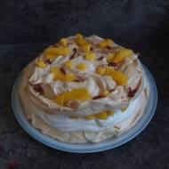 Tort bezowy z mango