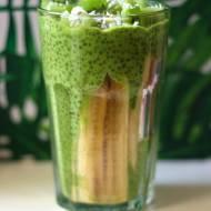 Zielony pudding chia z kiwi i bananem