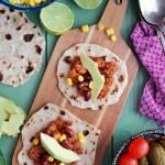 Tacos z chili con carne