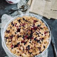 Szybkie ciasto z mrozonymi owocami z mieszanki kompotowej