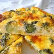 Pieczona frittata z brokułami (Frittata al forno con broccoli)