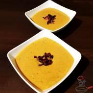 Zupa krem z karmelizowanych porów z glazurowanym bekonem