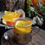 Zielona herbata z rozmarynem, imbirem i pomarańczą