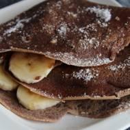 naleśniki kakaowe z bananem i czekoladową