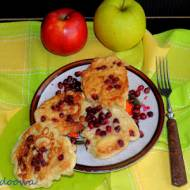 Placuszki z jabłkami i granatem