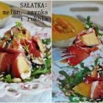 Sałatka z melonem, szynką i rukolą