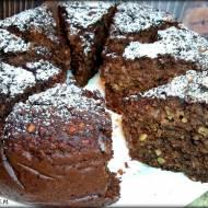 Czekoladowe ciasto z kaszy gryczanej z orzechami