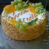Tort kajmakowo - waniliowy