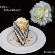 Tort makowy z masą serowo-śmietankową... Jubileuszowy. Na piąte urodziny bloga
