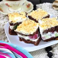 Ciasto kryształek – na biszkopcie rzucanym