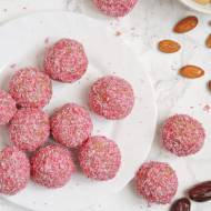 Różowe kulki mocy (wegańskie, bez glutenu, bez słodzików)