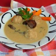 Zupa grzybowa z pulpecikami