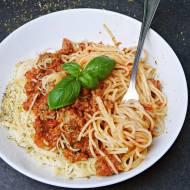 Spaghetti a'la bolognese z indykiem (wersja fit w 15 minut!)