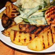 Pyszne ziemniaki z patelni grillowej