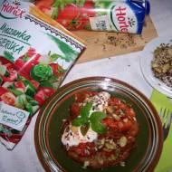 Placki ziemniaczane z węgierskim gulaszem warzywnym