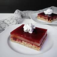 TRUSKAWKOWA KOSTKA – ciasto bez cukru, bez glutenu, wegańskie (paczka z MoyEco!)