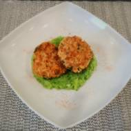 Kotlety mięsno-ryżowe na puree z kalafiora i brokuła