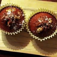 Muffinki marchewkowe z kremem pomarańczowym i kandyzowaną skórką pomarańczy / Carrot muffins with orange cream and candied orang