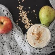 Smoothie gruszkowo-jabłkowe z płatkami owsianymi