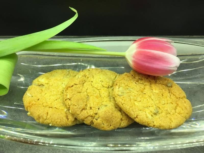Pyszne ciasteczka z płatkami owsianymi,  żurawiną i słonecznikiem