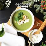 Zupa krem ze szpinaku z serkiem ricotta