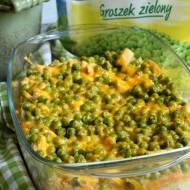 Zapiekanka ryżowa z kurczakiem i zielonym groszkiem