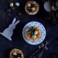 Wielkanocne gniazdka serowe na słodko